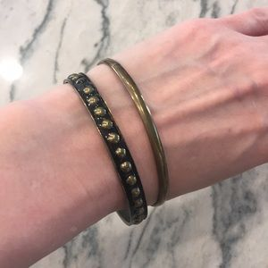 ⭐️ 2 for $8: Gold and black bangles